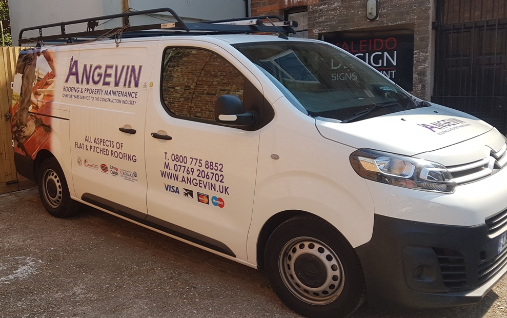 angevin roofing maintenance van