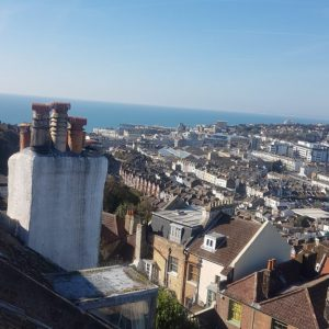 bexhill roofer rooftop view