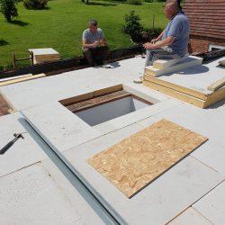 Insulation boards down, next stage new decking