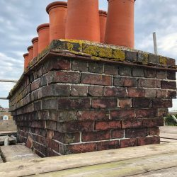 Poorly maintained chimney
